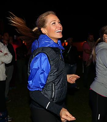 Think it's hard to fit in quality meals during a hectic day? Model, actress, health advocate Erika Heynatz, pictured here taking part in the recent Nike She Runs event in Sydney, shares how she maintains her energy levels on a busy schedule.