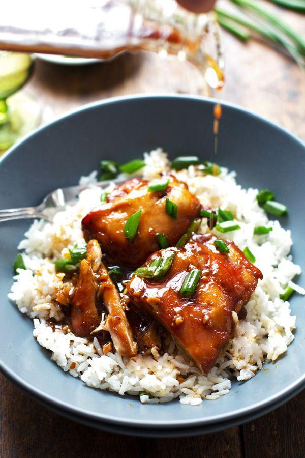 """<p>Bourbon and soy sauce belong together and this recipe proves it. </p><p><em><a href=""""http://pinchofyum.com/sticky-bourbon-chicken-rice"""" rel=""""nofollow noopener"""" target=""""_blank"""" data-ylk=""""slk:Get the recipe from Pinch of Yum »"""" class=""""link rapid-noclick-resp"""">Get the recipe from Pinch of Yum »</a></em> </p>"""