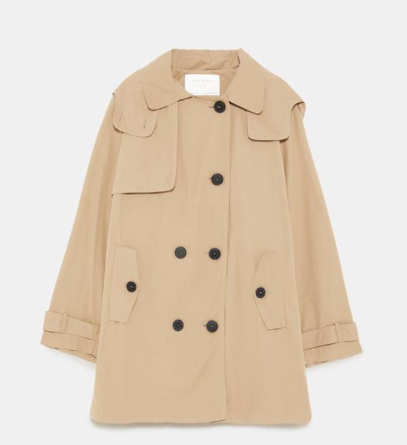 <p>Trench color beige, Zara (29,99 euros). </p>