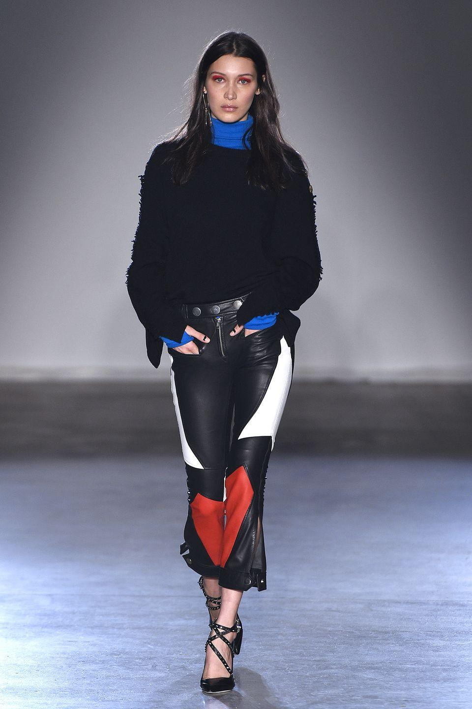 <p>Bella brought Paris to New York for Zadig & Voltaire </p>