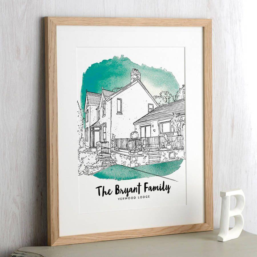 """<p><a rel=""""nofollow noopener"""" href=""""https://www.notonthehighstreet.com/letterfest/product/watercolour-house-line-drawing"""" target=""""_blank"""" data-ylk=""""slk:BUY NOW"""" class=""""link rapid-noclick-resp"""">BUY NOW</a> <strong>Notonthehighstreet.com, £40</strong></p><p>Offer a beautiful personalised gift with this hand-drawn line illustration of the new home by Letterfest. Based on a photo you supply, the gift is sure to be a success as a housewarming gift. </p>"""