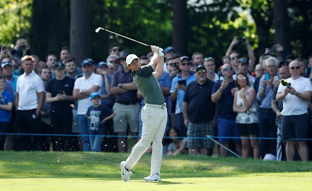 Golf - European Tour - BMW PGA Championship - Wentworth Club, Virginia Water, Britain - May 26, 2018 Northern Ireland's Rory McIlroy in action during the third round Action Images via Reuters/Peter Cziborra