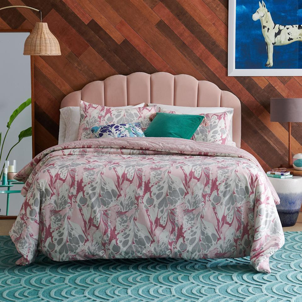 """<a href=""""https://fave.co/2RSPzjc"""" target=""""_blank"""" rel=""""noopener noreferrer"""">Walmart</a>has been stepping up their home and furniture section recently, with collaborations with the <a href=""""https://fave.co/360fiOO"""" target=""""_blank"""" rel=""""noopener noreferrer"""">cast of """"Queer Eye""""</a> and <a href=""""https://fave.co/2FMzcm1"""" target=""""_blank"""" rel=""""noopener noreferrer"""">actor Drew Barrymore</a>. So you'll be able to search for just about anything you need for your home. You can get everything from a <a href=""""https://fave.co/36174Gh"""" target=""""_blank"""" rel=""""noopener noreferrer"""">velvet couch</a> that has an art deco vibe to a <a href=""""https://fave.co/3hWFbBD"""" target=""""_blank"""" rel=""""noopener noreferrer"""">tufted scallop headboard</a>. We can't resist this <a href=""""https://fave.co/2HuXr8N"""" target=""""_blank"""" rel=""""noopener noreferrer"""">chair that's shaped like a petal</a>.<br /><br /><a href=""""https://fave.co/2RSPzjc"""" target=""""_blank"""" rel=""""noopener noreferrer"""">Check out Walmart</a>."""