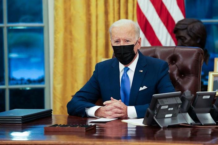 Joe Biden is plowing ahead with his $1.9trn Covid proposal — whether Republicans join him or not. (Getty Images)