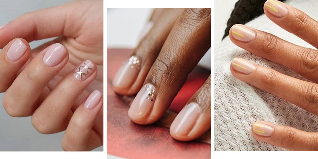 "<p>Nude nails, it's the vaguest of trends that covers a multitude of colours: beige, caramel, ballet-shoe pink, creamy peach, mushroom, mocha (we could go on). But what's a girl to do when muted starts to feel meh?</p><p>The clever thing about nude nail polish is that it flatters hands by giving the appearance of longer fingers (not that we have anything against short fingers, natch). It also makes a great neutral base for delicate nail art designs (stunning example by <a href=""https://www.instagram.com/thehangedit/"" target=""_blank"">Hang Nguyen</a> below) and looks incredible alternated with a glittery accent nail on long acrylics. Prefer a no-fuss, high-shine vibe? Try some gel nude nails on coffin-shaped acrylics for added drama. <a href=""https://www.instagram.com/luxebytracylee/"" target=""_blank"">Tracy Lee</a> demonstrates how good a matte finish looks when using multiple beige shades for a pretty gradient effect. And props to <a href=""https://www.mytownhouse.co.uk/"" target=""_blank"">Townhouse</a> for their clever wet-look design 🙌🏻.</p><p>We searched Instagram for the best nude nail looks and threw all our bright nail polishes in the bin (not really, that would be wasteful). Enjoy.</p>"
