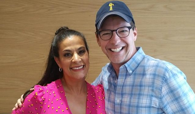 Maysoon Zayid with Sean Hayes, founder of Hazy Mills Productions (Photo: Courtesy of Maysoon Zayid)