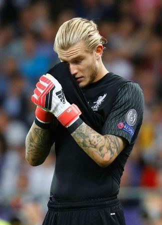 Soccer Football - Champions League Final - Real Madrid v Liverpool - NSC Olympic Stadium, Kiev, Ukraine - May 26, 2018 Liverpool's Loris Karius reacts during the match REUTERS/Kai Pfaffenbach