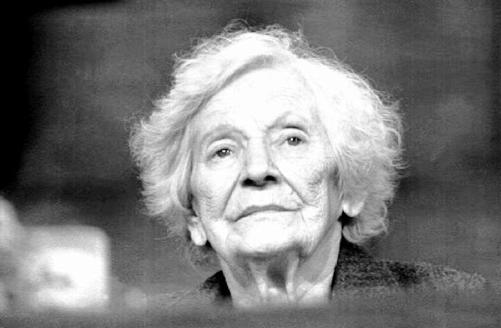 The Yad Vashem Holocaust museum insists the documents it received in 1999 never belonged to Emilie Schindler, seen here during a 1993 ceremony for her late husband in Buenos Aires (AFP Photo/Daniel Garcia)