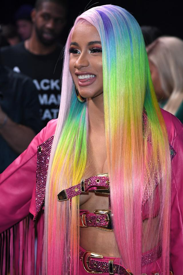 <p>In February of 2019, Cardi B wore this long, rainbow wig that we couldn't look away from.</p>