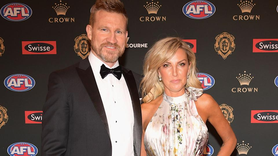 Nathan and Tania Buckley, pictured here at the 2018 Brownlow Medal.