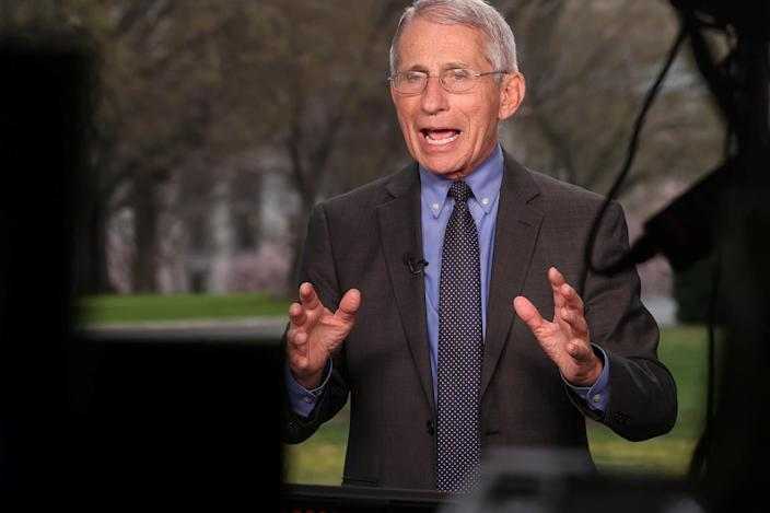 One of Fauci's numerous media appearances to educate the public about the coronavirus outbreak. (Jonathan Ernst/Reuters)