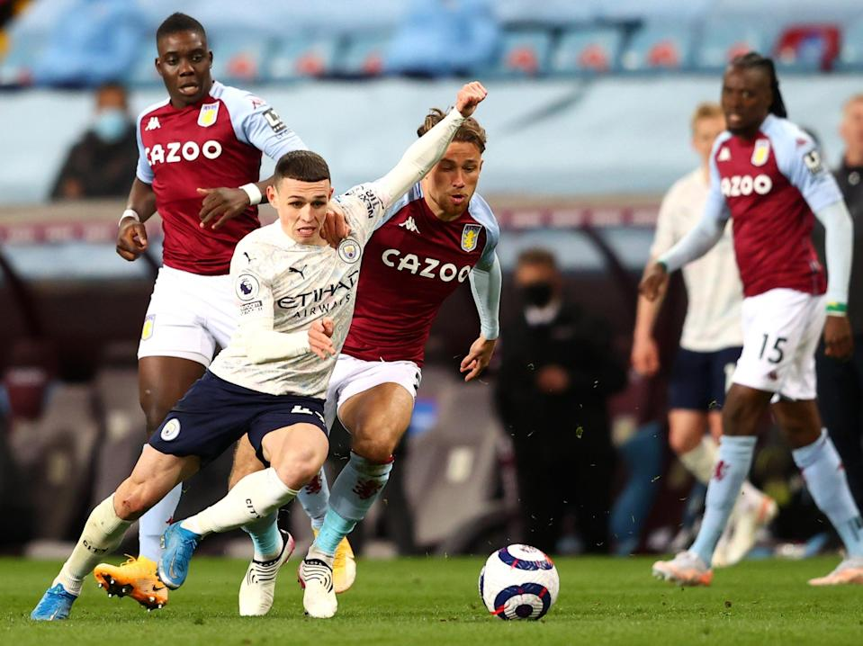 Midfielder Phil Foden on the ball for Manchester City (Getty Images)
