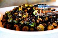 """<p>These sprouts aren't just good—they're """"absolutely to die for,"""" according to Ree. A thick balsamic glaze and dried cranberries are a perfect match for the salty sprouts.</p><p><strong><a href=""""https://www.thepioneerwoman.com/food-cooking/recipes/a10447/brussels-sprouts-with-balsamic-and-cranberries/"""" rel=""""nofollow noopener"""" target=""""_blank"""" data-ylk=""""slk:Get Ree's recipe."""" class=""""link rapid-noclick-resp"""">Get Ree's recipe.</a></strong></p>"""