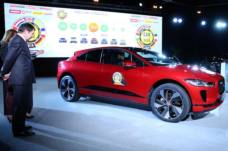 Electric Jaguar I-Pace wins vehicle  of the Year in Europe
