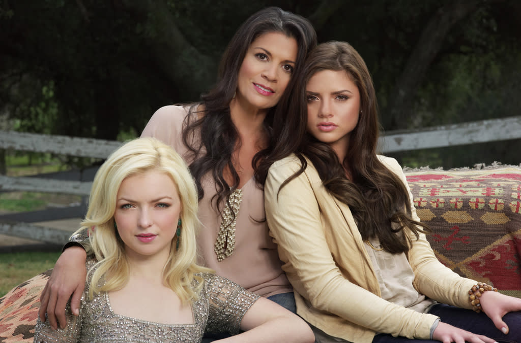 "Francesca Eastwood, Dina Eastwood, and Morgan Eastwood star in ""Mrs. Eastwood & Company."""