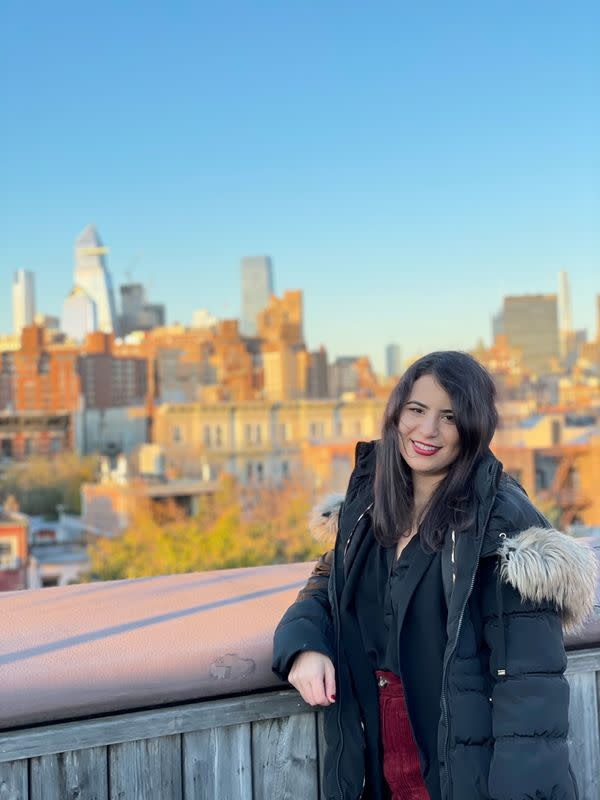 Entrepreneur and songwriter Arianna O'Dell poses for a picture in New York City