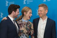 BERLIN, GERMANY - FEBRUARY 13: Richard Madden, Lily James and Kenneth Branagh attend the 'Cinderella' photocall during the 65th Berlinale International Film Festival at Grand Hyatt Hotel on February 13, 2015 in Berlin, Germany. (Photo by Target Presse Agentur Gmbh/WireImage)