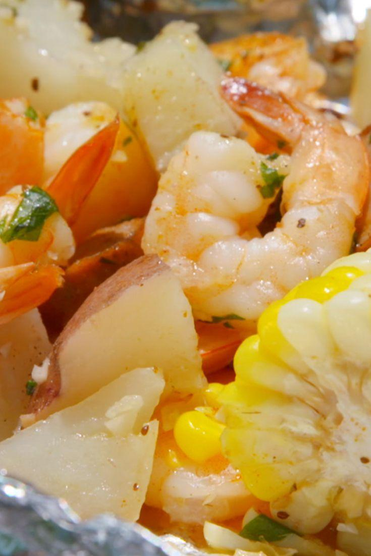 """<p>These quick & easy foil packets take inspo from the beloved (but tedious) shrimp boil.</p><p>Get the recipe from <a href=""""https://www.delish.com/cooking/recipe-ideas/recipes/a47430/grilled-shrimp-foil-packets-recipe/"""" rel=""""nofollow noopener"""" target=""""_blank"""" data-ylk=""""slk:Delish"""" class=""""link rapid-noclick-resp"""">Delish</a>.</p>"""