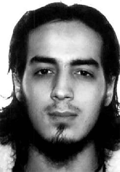 Interpol handout picture of Najim Laachraoui, one of the suicide bombers at Brussels' Zaventem airport and also linked to the Paris attacks