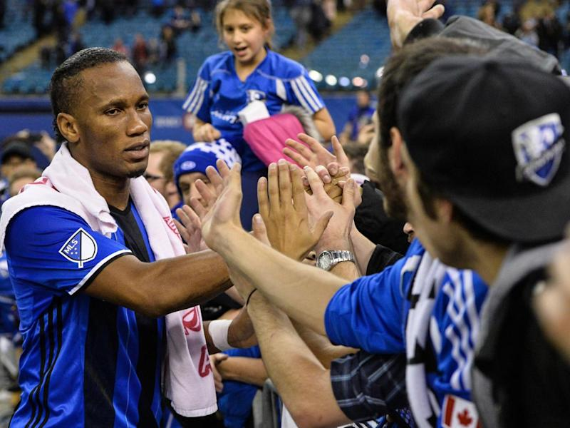 Drogba previously played for MLS team Montreal Impact (Getty )