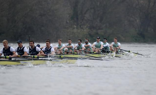 Rowing - 2018 Oxford University vs Cambridge University Boat Race - London, Britain - March 24, 2018 General view as Cambridge lead Oxford during the men's boat race REUTERS/Peter Cziborra