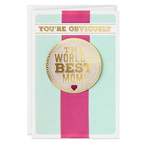 """<p><strong>Hallmark</strong></p><p>amazon.com</p><p><strong>$4.99</strong></p><p><a href=""""https://www.amazon.com/dp/B01N819C3D?tag=syn-yahoo-20&ascsubtag=%5Bartid%7C10070.g.26960407%5Bsrc%7Cyahoo-us"""" rel=""""nofollow noopener"""" target=""""_blank"""" data-ylk=""""slk:Shop Now"""" class=""""link rapid-noclick-resp"""">Shop Now</a></p><p>""""How else could I have turned out so great?""""</p>"""