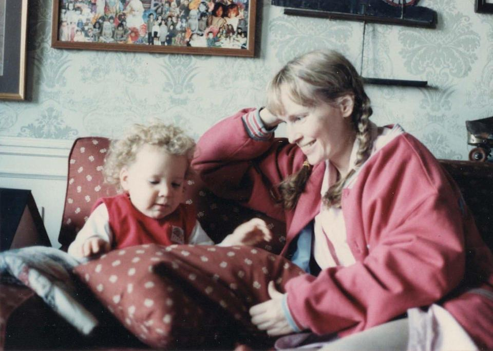 Actress Mia Farrow with her adopted daughter, writer Dylan Farrow.
