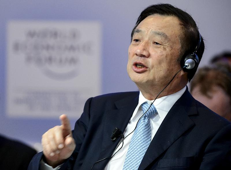 """Huawei CEO Ren Zhengfei said he trusts Canada's legal system is """"open, just, and fair"""" (AFP Photo/FABRICE COFFRINI)"""