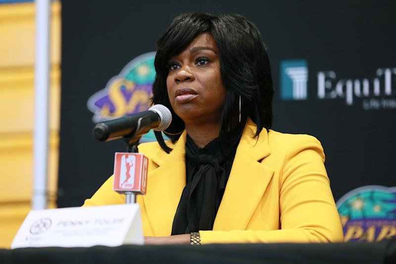 Penny Toler, who was fired in October for using a racial slur in the locker room, alleged that there were multiple inappropriate relationships going on within the organization.