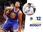 """<p>The 7-foot-tall Andrew Bogut was born and raised in Australia before playing for the Warriors in 2012. Bogut often has the same swag off the court as he does on it — Nike T-shirts and shorts. So it is always a very pleasant surprise when the baller shows up at a press conference wearing a <a href=""""https://www.youtube.com/watch?v=FaGs8RLJV6Y"""" rel=""""nofollow noopener"""" target=""""_blank"""" data-ylk=""""slk:nicely tailored suit and dress shoes"""" class=""""link rapid-noclick-resp"""">nicely tailored suit and dress shoes</a>. <i>Photo: Getty Images / Instagram.com</i></p>"""
