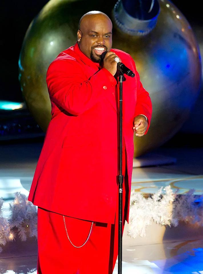 """The Voice"" judge and pop star Cee Lo Green got into the Christmas spirit with head-to-toe red. (11/30/2011)"