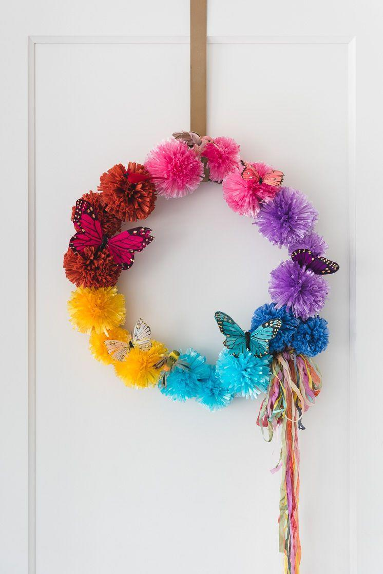 "<p>You can keep this colorful wreath up all summer long for a bright welcome every time you come home.</p><p><strong>Get the tutorial at <a href=""https://thehousethatlarsbuilt.com/2018/05/diy-raffia-pom-pom-wreath.html/"" rel=""nofollow noopener"" target=""_blank"" data-ylk=""slk:The House That Lars Built"" class=""link rapid-noclick-resp"">The House That Lars Built</a>.</strong></p><p><strong><strong><a class=""link rapid-noclick-resp"" href=""https://www.amazon.com/Sumind-Wreath-Rings-Valentines-Decoration/dp/B0772NZX65/?tag=syn-yahoo-20&ascsubtag=%5Bartid%7C10050.g.4395%5Bsrc%7Cyahoo-us"" rel=""nofollow noopener"" target=""_blank"" data-ylk=""slk:SHOP WREATH FRAMES"">SHOP WREATH FRAMES</a></strong><br></strong></p>"