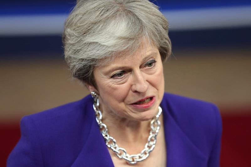 Theresa May is facing backlash from Brexiteers: AP
