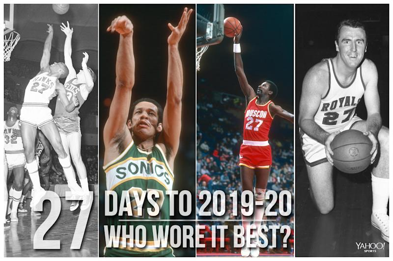 Which NBA player wore No. 27 best?