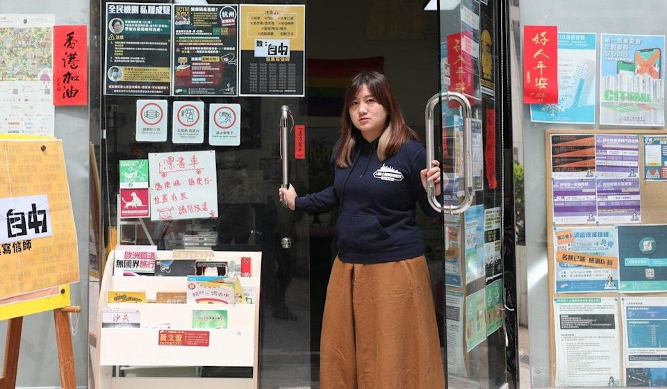 Sha Tin district councillor Leticia Wong at her office in City One. Photo: Xiaomei Chen