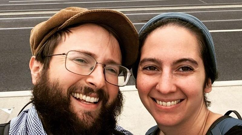 Rabbi Jeremy Borovitz and his wife Rabbi Rebecca Blady moved to Berlin in May to create Base Berlin, aninitiative of Hillel Germany.Blady serves as Base Berlin's executive director, while Borovitz is its senior Jewish educator. (Photo: Courtesy Base Berlin)