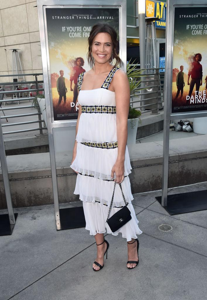 <p>On 26 July, Mandy Moore attended a Los Angeles screening of 'The Darkest Minds' in a tiered tulle dress accessorised with a Chanel bag. <em>[Photo: Getty]</em> </p>