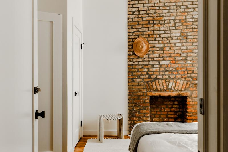 Another guest room that mixes family pieces with Brooklyn finds.