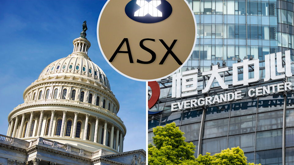 The Capitol Building, the ASX logo and the Evergrande Center