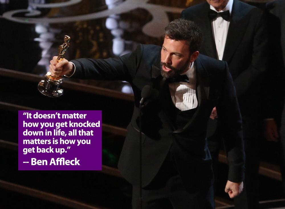 Actor/producer/director Ben Affleck onstage during the Oscars held at the Dolby Theatre on February 24, 2013 in Hollywood, California.