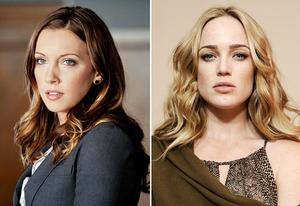 Katie Cassidy, Caity Lotz | Photo Credits: Cate Cameron/The CW, Larry Busacca/Getty Images