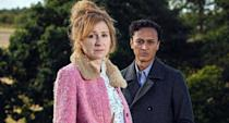 """ITV's <a href=""""https://uk.news.yahoo.com/tagged/emmerdale/"""" data-ylk=""""slk:Emmerdale"""" class=""""link rapid-noclick-resp""""><em>Emmerdale</em></a> had to take a break from filming due to the pandemic but got back to shooting in May. In the final stretch of the year there was debate around the soap due a controversial storyline about abortion and disability, as character Laurel wished to terminate her pregnancy after discovering her unborn baby had Down's Syndrome. The show and its stars <a href=""""https://uk.news.yahoo.com/emmerdale-downs-syndrome-101342220.html"""" data-ylk=""""slk:have defended;outcm:mb_qualified_link;_E:mb_qualified_link;ct:story;"""" class=""""link rapid-noclick-resp yahoo-link"""">have defended</a> it against backlash. (ITV)"""