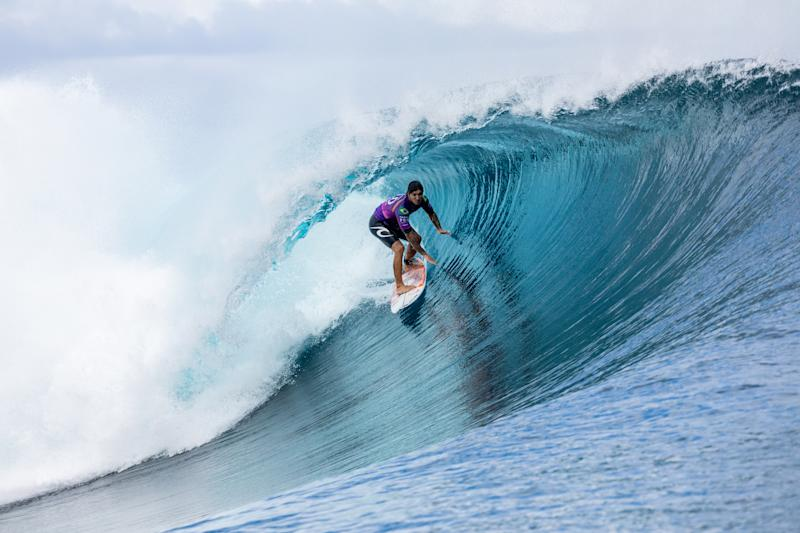 TEAHUPO'O, TAHITI - AUGUST 28: Two-time WSL Champion Gabriel Medina of Brazil, the defending event winner finishes runner-up in the 2019 Tahiti Pro Teahupo'o after placing second in the final at Teahupo'o on August 28, 2019 in Tahiti, Franch Polynesia. (Photo by Kelly Cestari/WSL via Getty Images)
