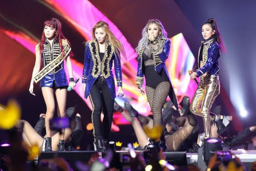 2NE1 was hugely popular before they disbanded in 2016.