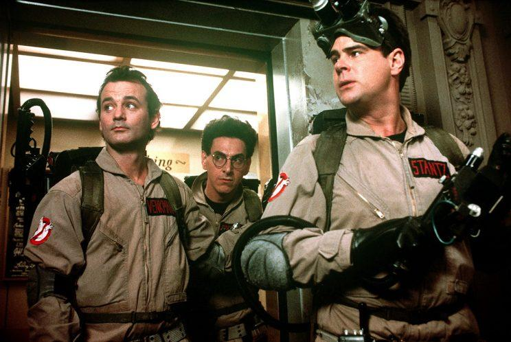 Bill Murray, Harold Ramis and Dan Aykroyd in the 1984 'Ghostbusters' (Photo: Columbia/courtesy Everett Collection)