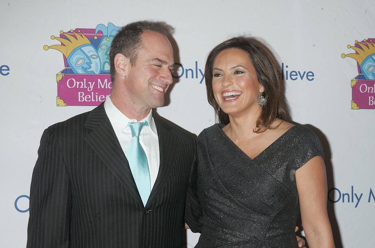 "<ul> <li>""From the second we met, <a href=""https://www.tvinsider.com/714620/mariska-hargitay-law-order-svu-season-20-ending-benson-stabler/"" target=""_blank"" class=""ga-track"" data-ga-category=""Related"" data-ga-label=""https://www.tvinsider.com/714620/mariska-hargitay-law-order-svu-season-20-ending-benson-stabler/"" data-ga-action=""In-Line Links"">bells went off</a>. We knew we were going to be a huge force in each other's lives. He was intense and mercurial but also fun.""</li> <li>""[H]e and I, from minute one were [doing] all this shtick, and laughing. It was nonstop chitchat; couldn't stop talking. All of a sudden someone comes out and pairs us up: 'Mariska and Chris.' And I thought. 'I <product href=""https://www.today.com/popculture/mariska-hargitay-chris-meloni-have-sweetest-law-order-svu-memories-t171075"" target=""_blank"" class=""ga-track"" data-ga-category=""Related"" data-ga-label=""https://www.today.com/popculture/mariska-hargitay-chris-meloni-have-sweetest-law-order-svu-memories-t171075"" data-ga-action=""In-Line Links"">want to be with that guy</product>!' Because we already had a thing.""</li> <li>She describes her relationship with Chris as one with ""<product href=""https://people.com/tv/mariska-hargitay-christopher-meloni-svu-chemistry/"" target=""_blank"" class=""ga-track"" data-ga-category=""Related"" data-ga-label=""https://people.com/tv/mariska-hargitay-christopher-meloni-svu-chemistry/"" data-ga-action=""In-Line Links"">instantaneous ease, trust, comfort</product>.""</li> </ul>"