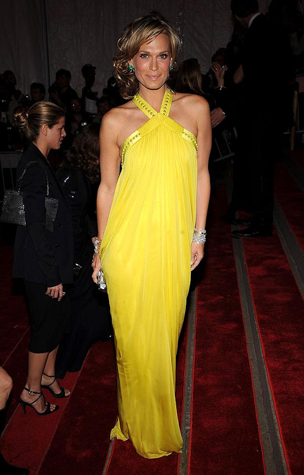 "Eternal beauty Molly Sims did what few women can do - wear yellow. The bejeweled bangle bracelets, perfectly bronzed skin, and tussled coif made this ensemble one of the evening's best. Dimitrios Kambouris/<a href=""http://www.wireimage.com"" target=""new"">WireImage.com</a> - May 1, 2008"