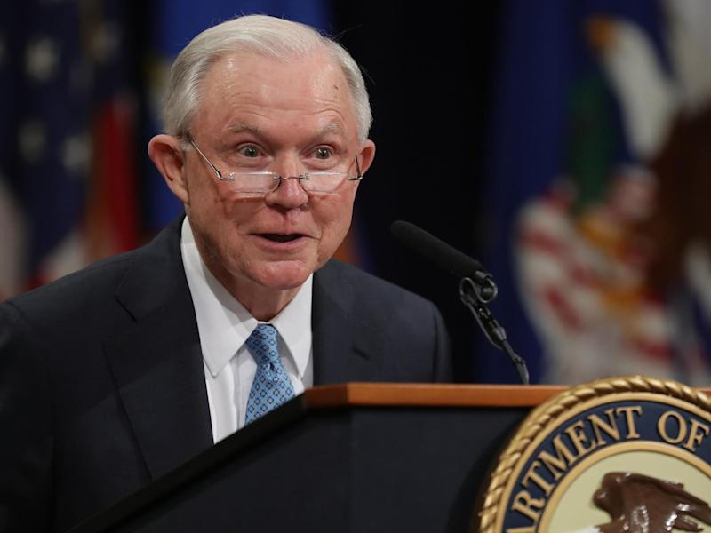 Jeff Sessions, Donald Trump's former attorney general, has hit back at the president on Twitter for endorsing his Senate rival: Getty Images