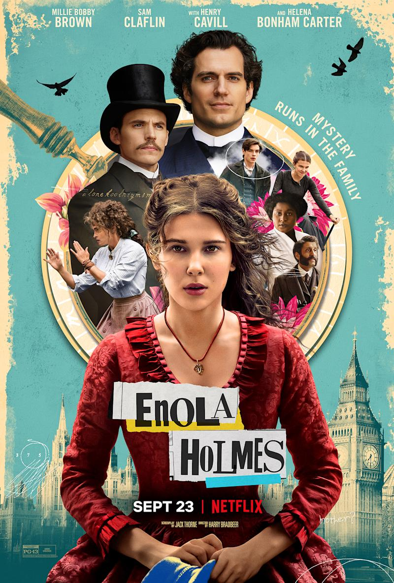 Key art for Enola Holmes. (Netflix)
