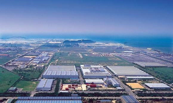 An aerial view of GM's manufacturing complex in Gunsan, South Korea